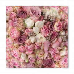 Pembe Beyaz Güller Bandana Fular