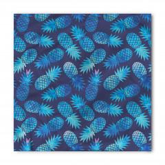 Mavi Ananas Desenli Bandana Fular