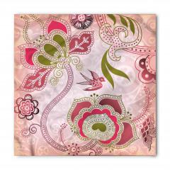 Pembe Kuş ve Çiçek Bandana Fular