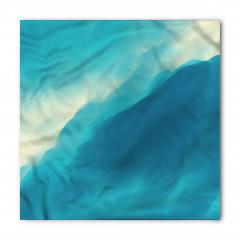 Dalgalı Deniz Desenli Bandana Fular