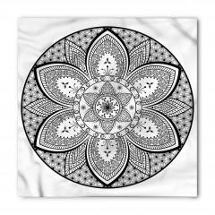 Siyah Beyaz Mandala Bandana Fular