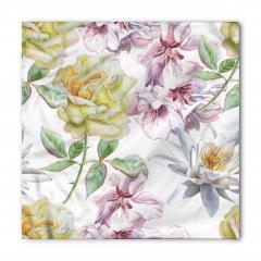 Sulu Boya Çiçekli Desen Bandana Fular
