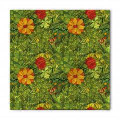 Yeşil Girdap Çiçekleri Bandana Fular
