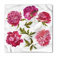 Pembe Şakayık Çiçekleri Bandana Fular