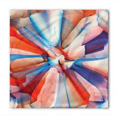 Sanatsal Çiçek Desenli Bandana Fular