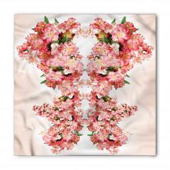 Pembe Bahar Çiçekleri Bandana Fular