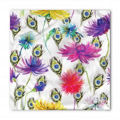 Mor ve Sarı Çiçekler Bandana Fular
