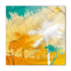 Beyaz Turkuaz Palmiye Bandana Fular