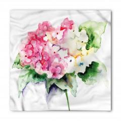 Vazodaki Pembe Çiçekler Bandana Fular