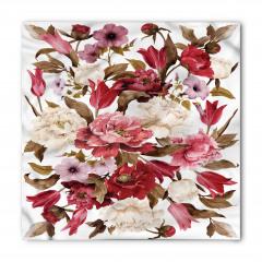 Romantik Çiçek Buketi Bandana Fular