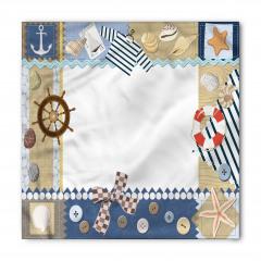 Denizci Çerçeve Desenli Bandana Fular