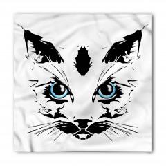 Mavi Gözlü Kedi Bandana Fular