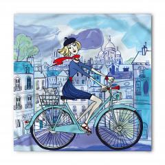 Paris'teki Bisikletli Kız Bandana Fular
