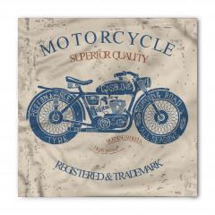 Nostaljik Motosiklet Desenli Bandana Fular
