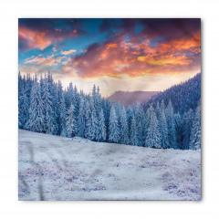 Karlı Ormanda Gün Doğumu Bandana Fular