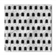 Siyah Beyaz Nostaljik Bina Bandana Fular