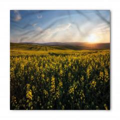 Sarı Çiçek ve Gökyüzü Bandana Fular