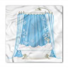 Mavi Duş Perdesi Bandana Fular