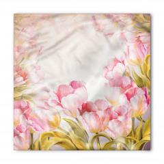 Pembe Romantik Çiçek Bandana Fular