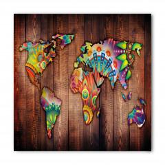 Rengarenk Çiçekli Dünya Bandana Fular