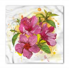 Amber Çiçeği Desenli Bandana Fular