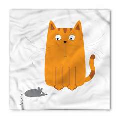 Sevimli Kedi ve Fare Bandana Fular