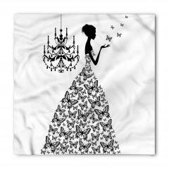 Kelebek Elbiseli Kız Desenli Bandana Fular