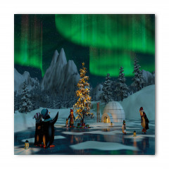 Penguen ve Kuzey Işığı Bandana Fular