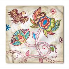 Dekoratif Çiçek ve Kuş Bandana Fular