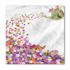 Rengarenk Çiçek Desenli Bandana Fular