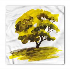 Meşe Ağacı Desenli Bandana Fular
