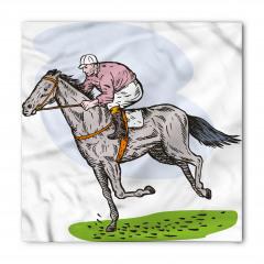 At Yarışı Desenli Bandana Fular