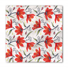 Kırmızı Şık Çiçekler Bandana Fular