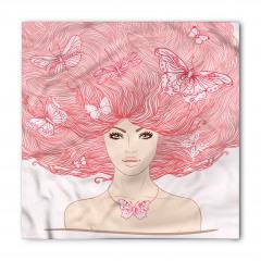 Saçları Kelebekli Kız Bandana Fular