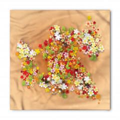 Rengarenk Bahar Çiçekleri Bandana Fular