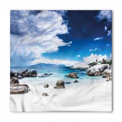 Beyaz Kumlu Cennet Plajı Bandana Fular