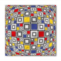 Mozaik Kareler Desenli Bandana Fular