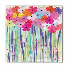 Mor ve Pembe Çiçekler Bandana Fular
