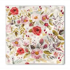 Şık Bahar Çiçekleri Bandana Fular