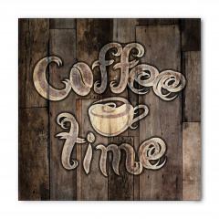 Kahve Zamanı Desenli Bandana Fular