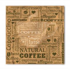 Beyaz Kahve Fincanı Bandana Fular