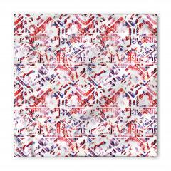 Stilize Üçgen Desenli Bandana Fular