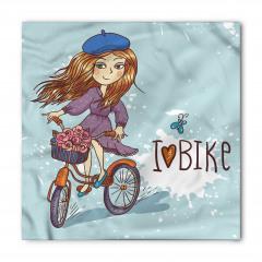Bisiklete Binen Kız Bandana Fular