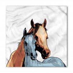 Anne At ve Tayı Bandana Fular