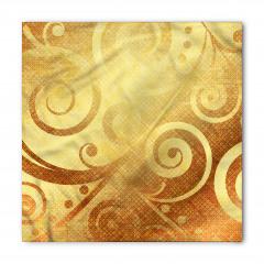Altın Spiral Desenli Bandana Fular