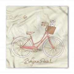 Pembe Bisiklet ve Köpek Bandana Fular