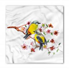 Sarı Karınlı Kuşlar Bandana Fular