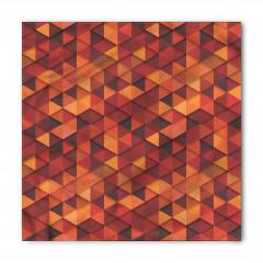 Kırmızı Turuncu Üçgen Bandana Fular