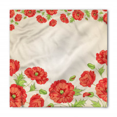Pembe Kırmızı Çiçekler Bandana Fular