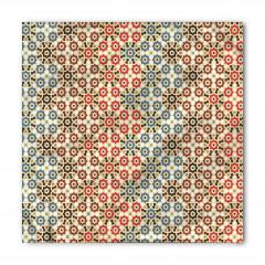 Geometrik Çiçek Desenli Bandana Fular